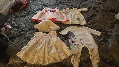 Baby Girl Dresses/Outfit Bundle.Ted Baker/Disney/Rose/Spanish.Newborn/First Size