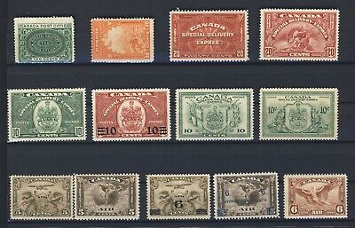 13x Canada Mint Stamps 8x Special Delivery & 5x Airmail #C1 to C5 GV = $322.00