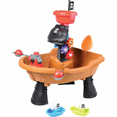 Constructive Playthings Pirate Ship Water Play Table for Kids