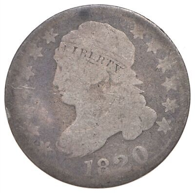 EARLY - 1820 - Capped Bust Dime - Eagle Reverse - TOUGH - US Type Coin *282