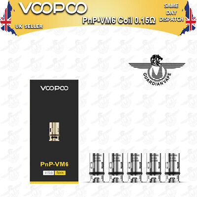 VOOPOO PNP-VM6 MESH COILS 0.15 OHM for DRAG S and DRAG X kits – PACK OF 5