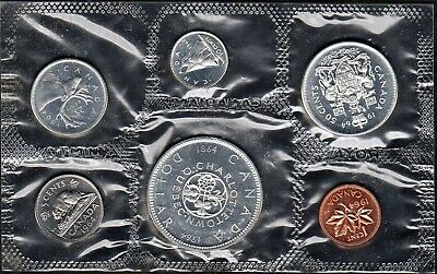 Canada 1964 Silver Uncirculated Set In Original Rcm Packaging (Pl15)