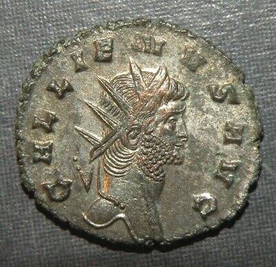 Roman Silver Coin Caesar Emperor Gallienus 253-260 AD Rare Ancient Lot UNC Old