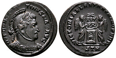 CONSTANTINE THE GREAT (319 AD) Ae3 Follis. Trier #AV 4796
