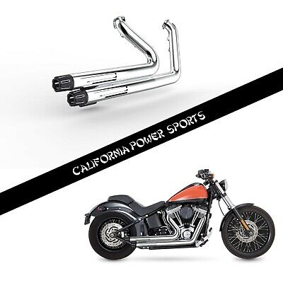 SLIP ON PIPE MUFFLER EXHAUST FIT Softail 2012-2017 Fat Boy 2013-2016 Breakout C2