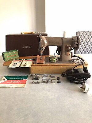 SERVICED Singer 185k Heavy Duty Sewing Machine sew Leather Canvas Denim