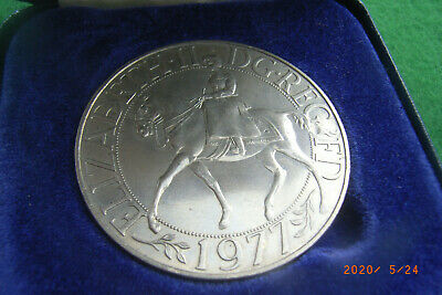 1977. Silver Jubilee 25 Pence Coin. Copper Nickel. Proof. Barclays Bank Boxed