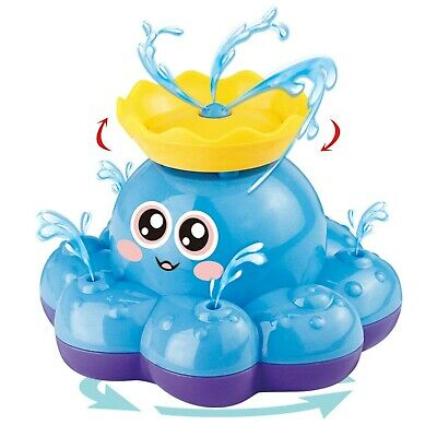 Bath Toy, Spray Water Octopus (Ramdom Colour), Can Float Rotate With Fountain...