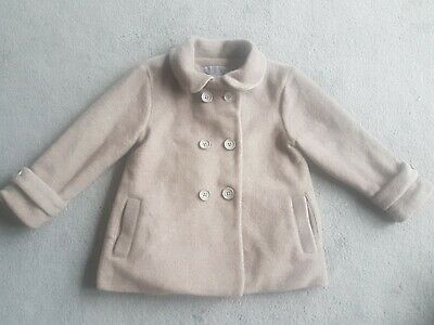 Girls NEXT COAT 2-3 YRS BEIGE AND PINK