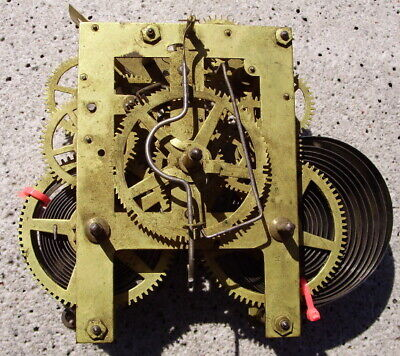 Antique Clock Movement Time & Strike For Resotration