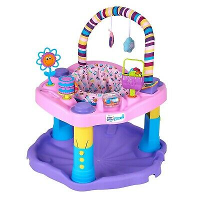 Exersaucer Bounce and Learn Sweet Tea Party, Pink/Purple/Yellow