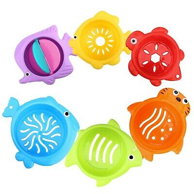 Zooawa Stacked Cup Baby Bath Toys, Toddler Sea Animals Shape Bathtub Stacking...