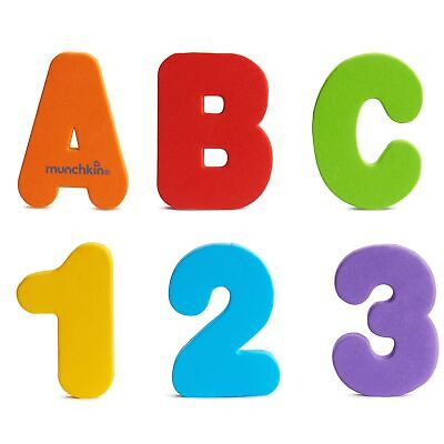Munchkin 11020 Bath Letters and Numbers Letters & Numbers, Primary