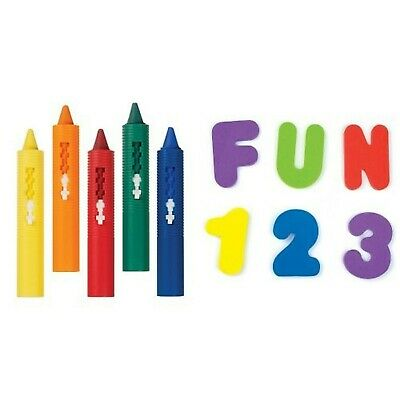 Munchkin 5 Piece Bath Crayons Set with Bath Letters and Numbers