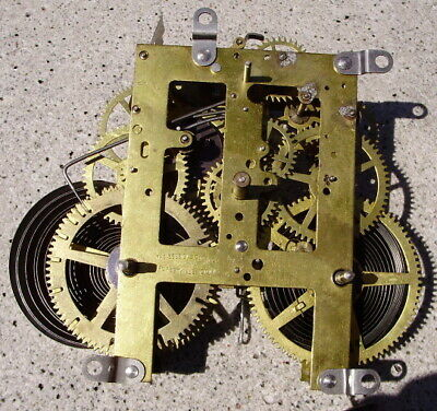Antique Sessions Clock Movement Time & Strike For Parts Or Restoration