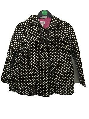 Girls Black/ivory Polka Dot Jacket OshKosh Age 4-5 Years.