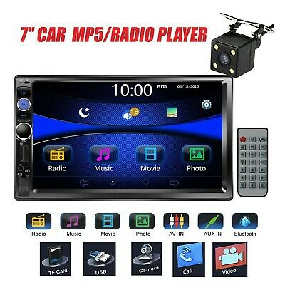 """Car Stereo Double Din Radio with Rear View Camera, Regetek 7"""" Touchscreen In ..."""