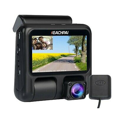 Dual Dash Cam for Cars, EACHPAI X100 Pro Dash Camera Dual Front and Cabin 108...