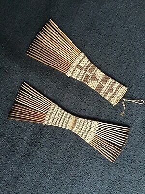 African antique tribal Mangbetu combs early 20th century