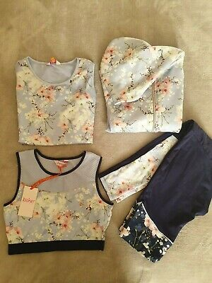 Ted Baker Girls 4 Pieces Floral Active Wear, Size: 11-12yrs