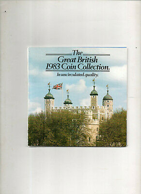 1983, Great British Coin Collection. 8 X Coin Set. 1/2 pence to £1 coin. Martini
