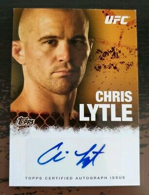 2010 Topps UFC Series 4 Chris Lytle Authentic Auto Trading Card  FA-CLY