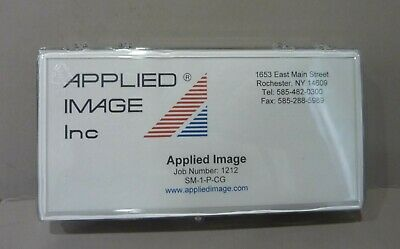 """Micro Stage Micrometer 5"""" Applied Image Sm-1-P-Cg Chrome On Glass"""