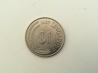 1967 Singapore One Dollar uncirculated coin