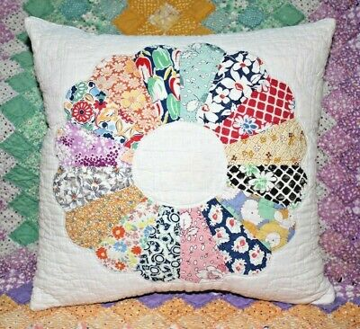 NEW Throw Pillow Made From Vintage 1930's Handmade Quilt DP14-D