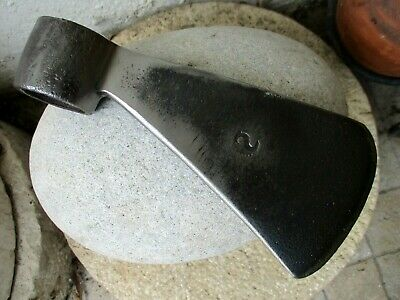 True Antique Forged in Carbon Steel Axe With Blacksmith Mark Signature Old Tool