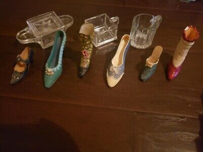 ceramic collectibles glass small shoes and boots