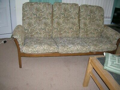 Three piece Ercol lounge suite (3, 2 and 1)