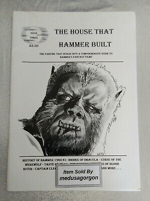 THE HOUSE THAT HAMMER BUILT Magazine # 3 Curse Of The Werewolf, Captain Clegg