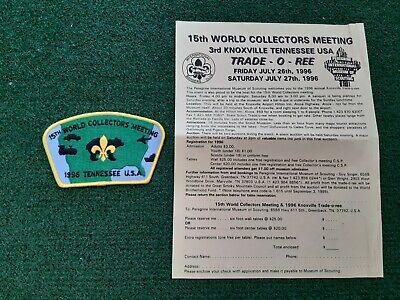in529 INSIGNE SCOUT WORLD COLLECTORS MEETING TENNESSEE USA 1996  SCOUTING BADGE