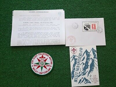 in530 INSIGNE SCOUT COLLECTORS MEETING BULLET SUISSE SWISS 1993 SCOUTING BADGE