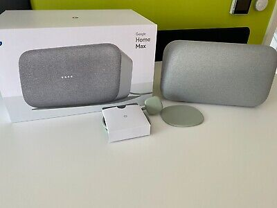 Google Home Max Smart Speaker.  Chalk.  Boxed. Excellent Condition.