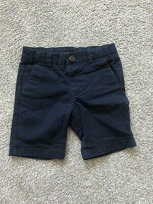 Boys Marks And Spencer Navy Blue Shorts Age 2-3 Years
