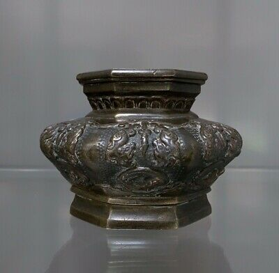 Unusual Antique chinese bronze incense burner with qilin