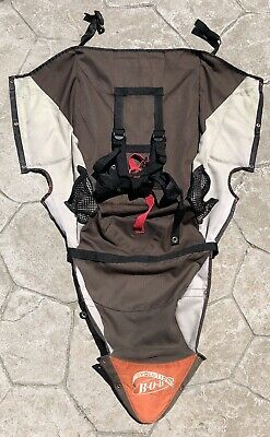 BOB Revolution Single Jogger Stroller FABRIC SEAT Cloth - Brown Orange White