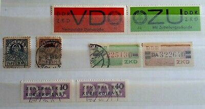 Small Collection Of German Courier Stamps - Used & Unused - Germany