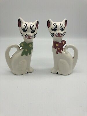 Retro Vintage Mid Century Cat Kitten Salt Pepper Shakers