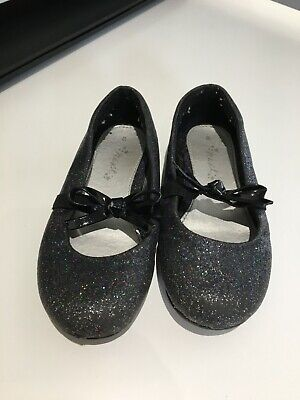 Girls Size 8 NEXT Black Sparkly Shoes