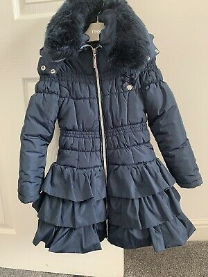 Le Chic Navy Coat Size 116 Age 5-6 Yrs