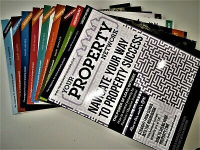 Your Property Network Magazines - 9 back copies - Nov15 - Aug16 (Feb16 missing)