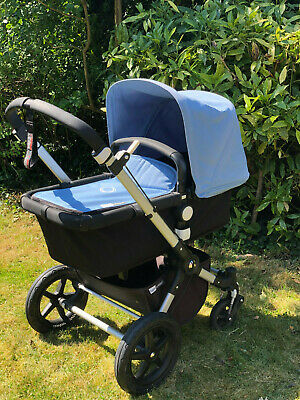Bugaboo Cameleon 3 pushchair carrycot & ice blue colour pack excellent condition