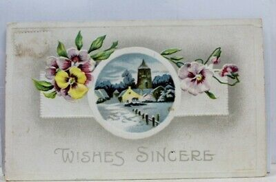 Greetings Wishes Sincere Postcard Old Vintage Card View Standard Souvenir Postal