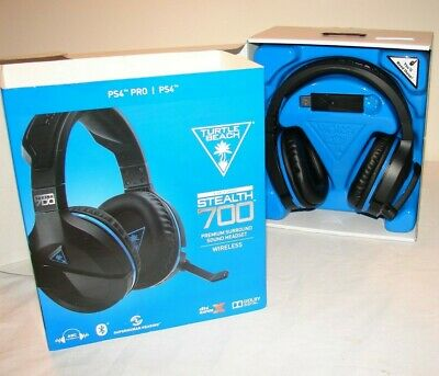 Turtle Beach Stealth 700 Headband Headsets for Multi-Platform Black & Blue Used!