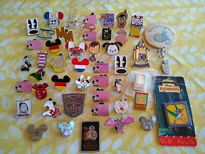 Walt Disney Pins Lot 49 pcs Vintage Euro Paris World Button Land Trading