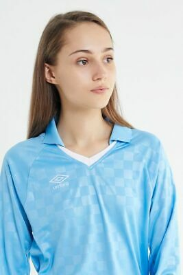 Urban Outfitters Uo Umbro Womens Blue White Shirt Top Size Small Nwt Rv$80