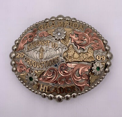 2009 Champion Header Belt Buckle Signed Master Collection By A Cut Above Buckles